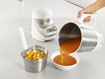 blender chauffant soup & co inox panier - moulinex