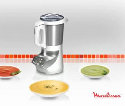 blender soupe chauffant soup & co - moulinex
