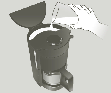 Cafeti re lectrique 15 tasses subito inox noir moulinex - Comment detartrer une cafetiere electrique ...